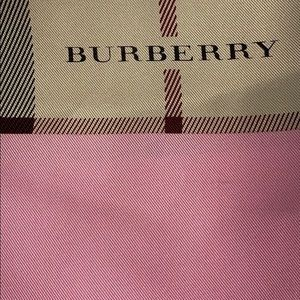 Burberry Nova Plaid Pink Silk Scarf